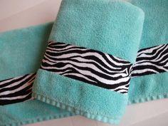 Zebra Bath Towels you pick the size hand towel zebra by AugustAve