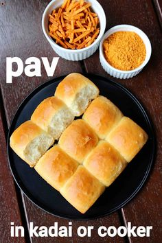 pav recipe, ladi pav in cooker, homemade eggless pav bread with step by step photo/video. easy baking indian bread or pav bread using pan or cooker. Spicy Recipes, Cooking Recipes, Bread Recipes, Chaat Recipe, Vada Pav Recipe, Indian Dessert Recipes, Vegetarian Snacks, Think Food, Bakery Recipes