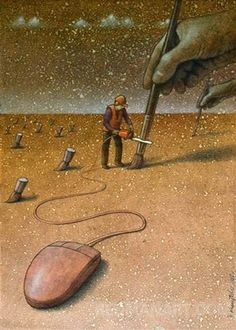 Pawel Kuczynski, a Polish artist has worked in satirical illustration specialising in thought-provoking images that make his audience question their everyday lives.more illustrations in the link. Art And Illustration, Street Art, Satirical Illustrations, Satirical Cartoons, Cartoon Illustrations, Political Art, Inspiration Art, Wow Art, Canvas Artwork