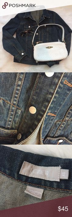 """J. CREW Denim Jacket This jacket is in great condition! No marks! Classic style. 20 1/2"""" long. 18"""" sleeve inseam. 17"""" across the bust. Pet free non-smoking home. 100% cotton.                                   🔹suggested user🔹fast shipper🔹                                   🔸bundle to save 20%🔸300+ items🔸 J. Crew Jackets & Coats Jean Jackets"""