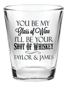 Personalized Wedding Shot Glasses Favors K&M