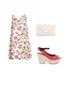 FLORES VAPOROSAS: Vestido Vero Moda, cuñas Titis Clothing y bolso Mimao.