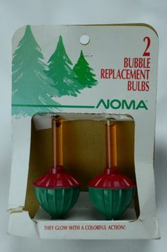 Vintage Bubble Replacement Bulbs Noma 1989 NIP Christmas Lights