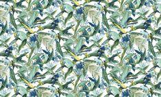 Macaw Jade  100% Cotton  Approx. 280cm Drop (Railroaded) | V: 66cm H:55cm  Dual Purpose 20,000 Rubs