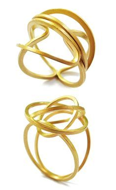 Gold rings by Ines Alonso, Spain