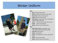 Richmond View School .::. Uniform