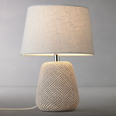 Buy John Lewis & Partners Iona Small Table Lamp from our Desk & Table Lamps range at John Lewis & Partners. Free Delivery on orders over Night Table Lamps, Large Table Lamps, Ceramic Table Lamps, Small Tables, Bedroom Light Shades, Portable Table, Touch Lamp, John Lewis, Living Room