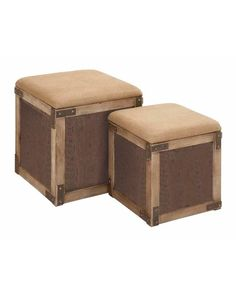 Set of Cubical Storage Wooden Cushioned Top Stools - adds an earthy feel to your contemporary home. It is not only stylish in looks but also serves more than one purpose. It acts as a super comfortable stool and offers extra storage space inside. It has a cushioned top to make your seating experience wonderful, and you can lift it up to open the storage space inside and keep your clothes and other utility items handy.