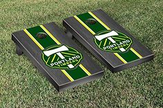 MLS Portland Timbers Onyx Stained Stripe Version Cornhole Game Set * You can find out more details at the link of the image.