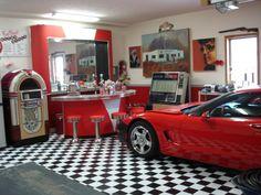 Retro garage. Repinned by Greased Lightning Garages, Melbourne.  http://www.secretdesignstudio.com/Greased-Lightning-Garages.html