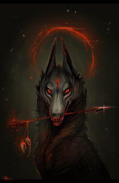 Dark Fantasy is the Best Fantasy Dark Fantasy Art, Fantasy Wolf, Fantasy Kunst, Fantasy Demon, Demon Art, Anime Wolf, Art Noir, Demon Wolf, Wolf Wallpaper
