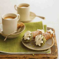 True to their Sicilian roots, our cannoli are filled with fresh ricotta, instead of the custard and cream that define American versions. Cinnamon-infused dough for the shells is rolled with a pasta maker (another nod to the old country) and then lightly fried and dipped in chocolate and pistachios. The result? Delizioso.