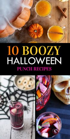 10 Deliciously Boozy Halloween Punch Recipes - Society19 Halloween Cocktails, Halloween Desserts, Adult Halloween Drinks, Fete Halloween, Halloween Food For Party, Halloween Birthday, Halloween Treats, Halloween Movies, Halloween Costumes