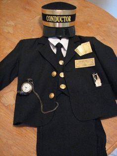 Train Conductor costume.  Love everything-including a real pocket watch. $10 off through 10/10/14 at  www.trainconductorcostumes.com