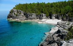 Tobermory, Ontario.  My husband says it's breathtaking.  I'm hoping to find out for myself.