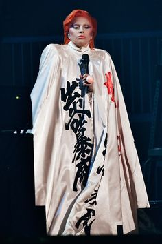Lady Gaga Cape - Lady Gaga performed at the Grammys wearing a voluminous cape by Marc Jacobs.
