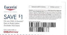 Eucerin Face or Body Lotion - 12/31/2014 - $1.00 on ONE (1) - (10) - CVS