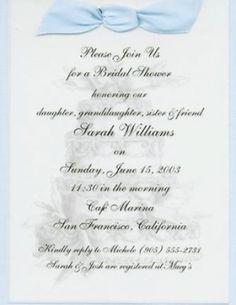 Wedding invitations bridal shower invitations announcements by like the wording wedding invitation textbridal shower filmwisefo