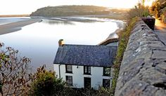 Dylan Thomas' Boathouse, Laugharne, Wales, where the poet lived in the last years of his life