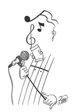 This is better than the music man I designed! Music Drawings, Music Artwork, Art Music, Easy Drawings, Music Notes Art, Music Pics, Music Pictures, Jazz Art, Music Crafts