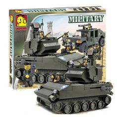 Oxford Lego Style Block Toy Military Series OM3302 Tank Truck
