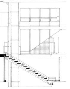 Gallery of AD Classics: Maison de Verre / Pierre Chareau + Bernard Bijvoet - 12 Architecture Drawings, Art And Architecture, Architecture Details, Auditorium Design, Construction Documents, Stair Detail, Famous Architects, Detailed Drawings, Contemporary Interior Design