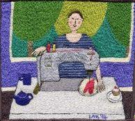 Linda Miller at her Bernina 950 I love Linda's work, such an inspiration and makes me smile!