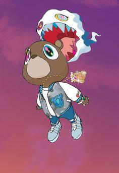 marco d'alfonso my work & stuff i like Rapper Wallpaper Iphone, Rap Wallpaper, Kanye West Bear, Kanye West Wallpaper, Graduation Bear, Trill Art, Rapper Art, Pochette Album, Hypebeast Wallpaper