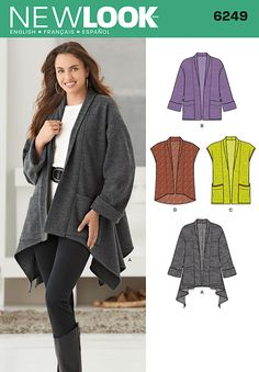 Simplicity Creative Group - Misses' Jacket with Length Variations & Vest