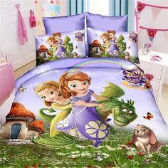 3d masha and bear/princess girls bedding set 2/3pcs twin single size of duvet/doona cover bed sheet pillow case bed linen set