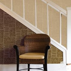Stenciled Walls with Modern Wall Stencils