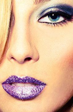 Violent Lips The Lavender Glitteratti Lip Tattoo #makeup, #lips, #pinsland, https://apps.facebook.com/yangutu