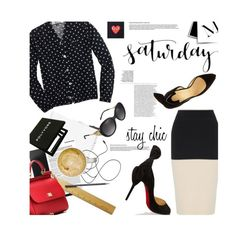 """Saturday Chic"" by pisces7 ❤ liked on Polyvore featuring Comme des Garçons, J.Crew, CoffeeShop, Christian Louboutin, Burberry, rag & bone, Dolce&Gabbana, chic and redblackandwhite"