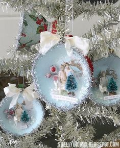 Stamptramp: Teacup Christmas Ornament. Created with dies from Brenda Walton for Sizzix and idea-ology findings from Tim Holtz.