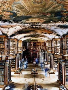 OMG I need to go visit theis library! The library at the Abbey of St Gall, in St Gall, Switzerland, is one of the oldest monastic libraries in the world Beautiful Library, Dream Library, Library Books, Magical Library, Belle Library, Special Library, Future Library, College Library, Children's Books