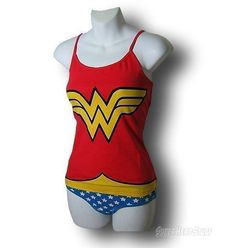 Images of Wonder Woman Cami and Panty Set $34.99