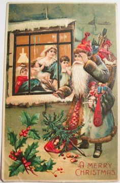 New Post vintage christmas card public domain