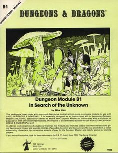 """B1mono 1st/2nd print """"In Search of the Unknown"""" D&D Basic,TSR9023... B """"Basic"""", 1 of 14"""