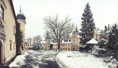 The wonderful Kliczkow Castle in wintertime. Lower Silesia, Poland.