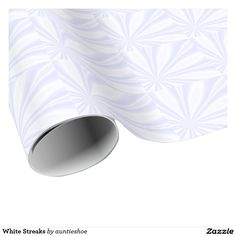 White Streaks Wrapping Paper