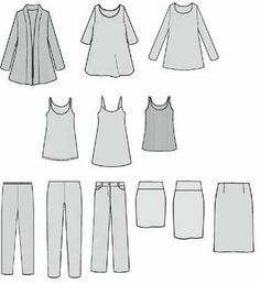 Building and personalising your capsule Here's a possible basic group of co-ordinates : the whole 'cheat sheet for getting dressed' from Eileen Fisher's Personal Shopper section for November to February 2011.