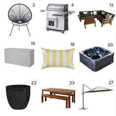 Get the look - Maree & James' Backyard - The Block NZ 2014 - Visit blog.curate.co.nz for links to all these products and more