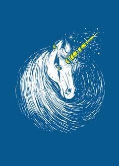 Displate Poster scar unicorn. unicorn #myth #legend #horn #scar #thunder #magic #magical #horse