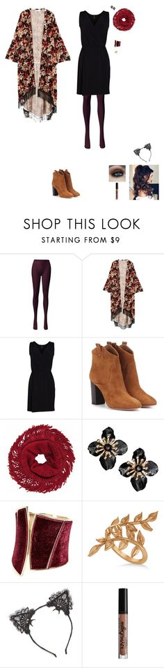 """Life's a roller coaster "" by darling101 ❤ liked on Polyvore featuring MANGO, Viereck, Aquazzura, GUESS by Marciano, Allurez, True Craft and NYX"