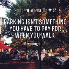Parking isn't something you have to pay for when you walk. #southernathenatips #eveningstroll Some business owners get so caught up on how much parking they may have that they lose out on lucrative real estate opportunities. #investment #realestate #insights #walkmore #getoutofyourownway #demonbreun #sushi #nashville