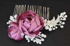 Bridal wedding hair piece bridal hair accessory by MkeFlower