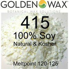 Golden Brands - 415 Plain 100% Soy Container per 10 lb.