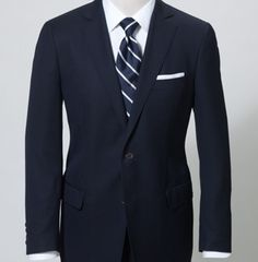 What shirt colour is it acceptable to wear with a navy suit? - Quora