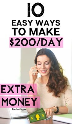 Want to make $200 a day, learn how to easily make $200 a day with this article. #passiveincome #bloging #makemoneyblogging Make Money Fast, Make Money Blogging, Make Money Online, Online Jobs For Moms, Making Extra Cash, Online Tutorials, Free Training, Work From Home Jobs, Extra Money