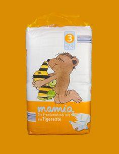 Verpackungsdesign für Aldi Süd | Babywindeln mamia | Jasten, Büro für Gestaltung und Kommunikation | Markenentwicklung und Verpackungsdesign aus Irsee im Allgäu